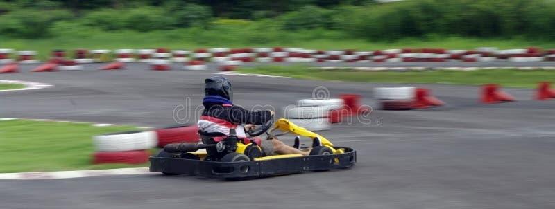 Corsa da go-cart di velocità immagini stock libere da diritti