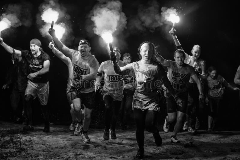 Corsa degli eroi, Russia fotografie stock libere da diritti