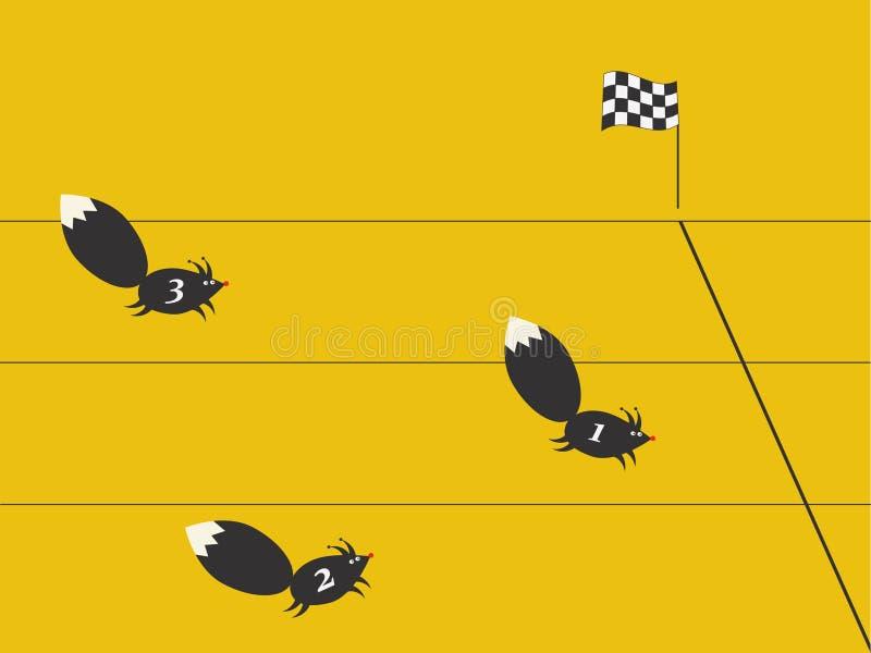 Corsa degli scoiattoli illustrazione di stock