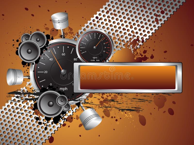 Corsa del blocco per grafici della bandiera del testo di Grunge di velocità illustrazione vettoriale