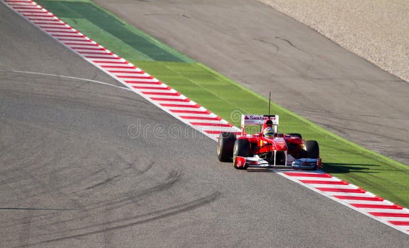 Corsa del Ferrari fotografie stock