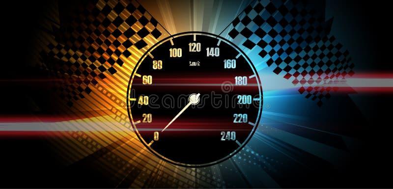 Corsa del fondo, astrazione dell'illustrazione di vettore in automobile illustrazione vettoriale