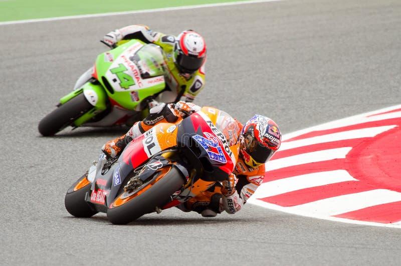 Corsa del GP di Moto fotografia stock
