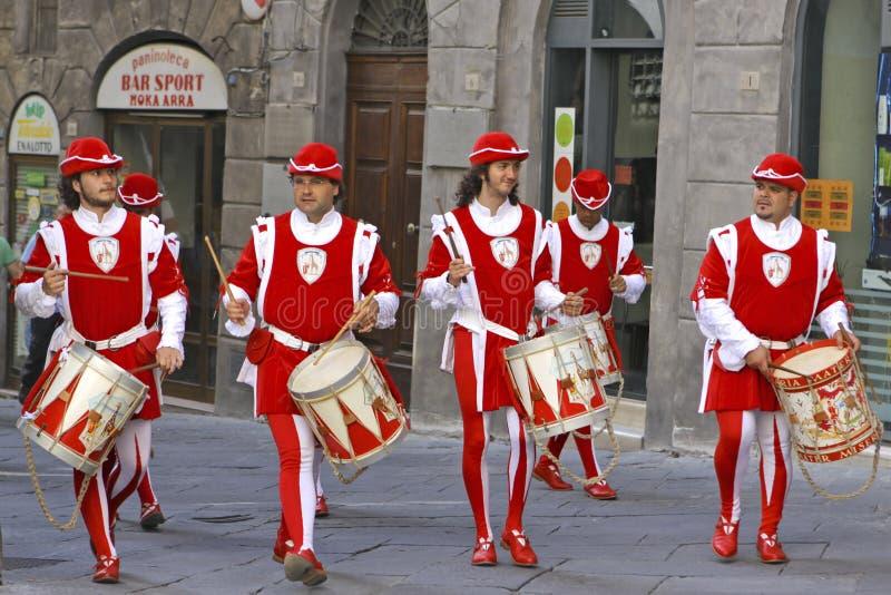 Corsa del Palio a Siena, Toscana, Italia fotografia stock libera da diritti