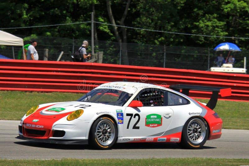 Corsa del professionista di Porsche fotografie stock