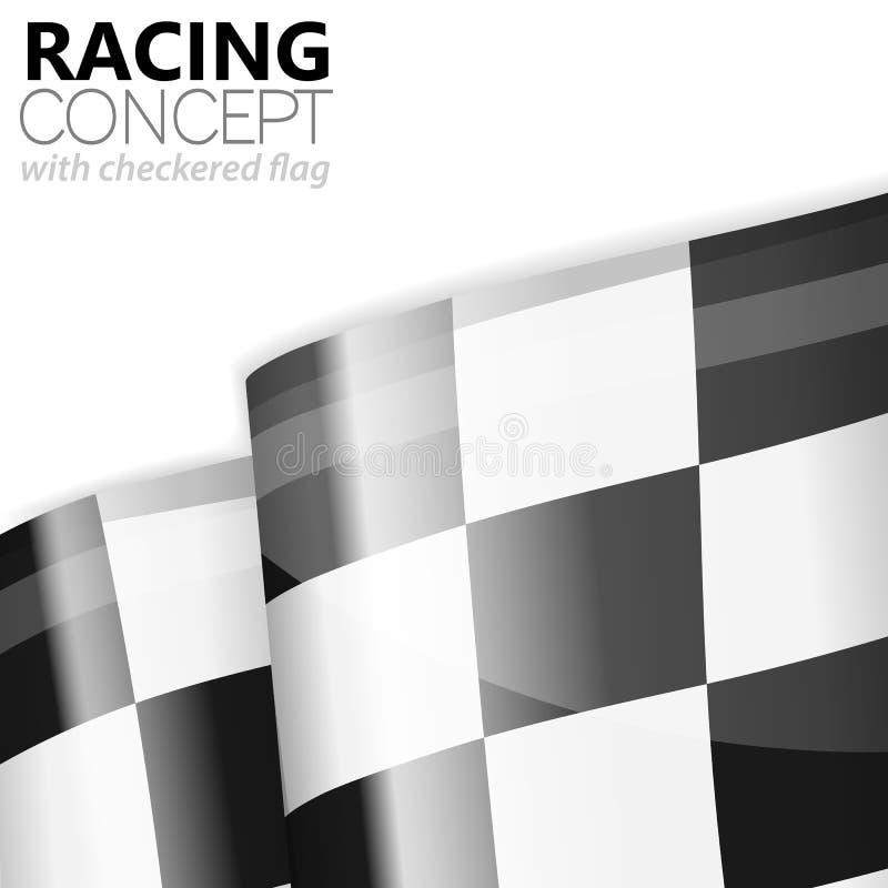 Corsa del rivestimento a quadretti della bandiera illustrazione di stock