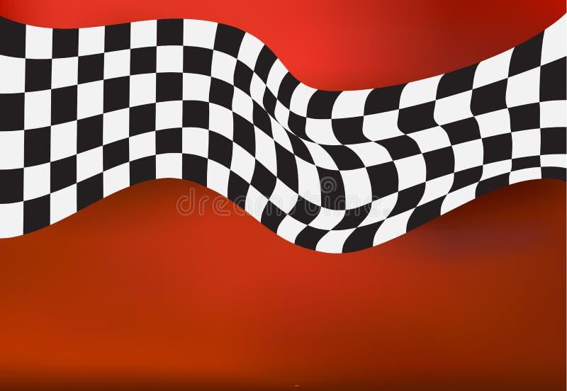 Corsa della bandiera a quadretti del fondo royalty illustrazione gratis