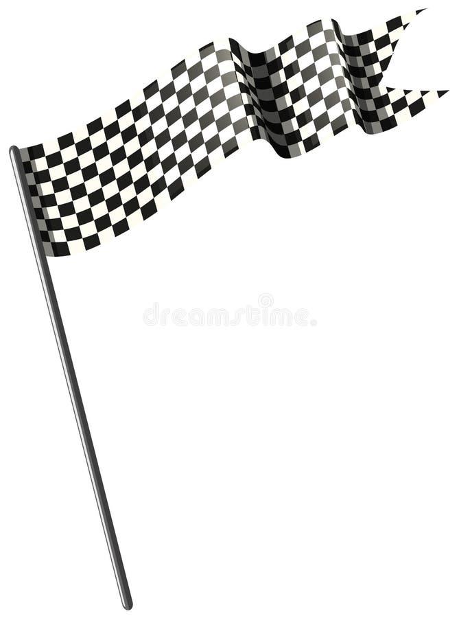 Corsa della bandiera su fondo bianco illustrazione di stock