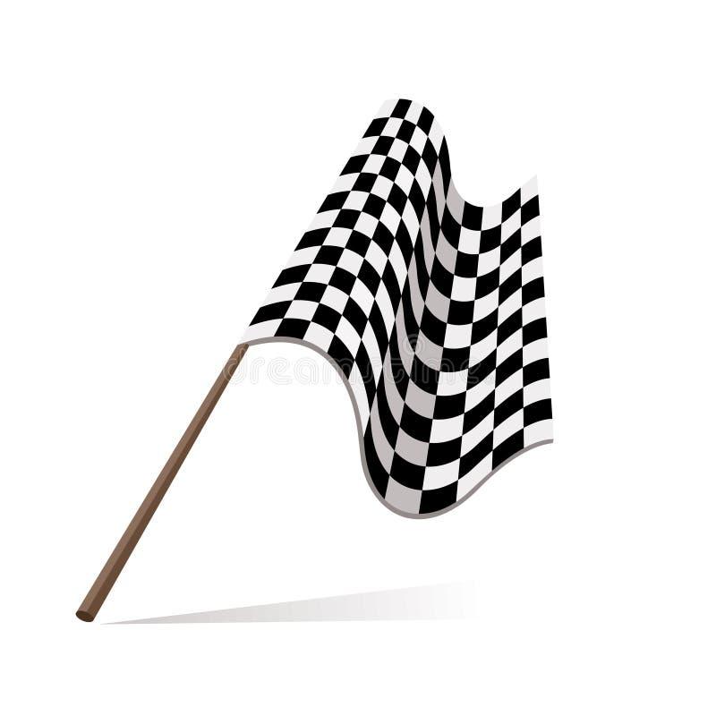 Corsa della bandierina royalty illustrazione gratis