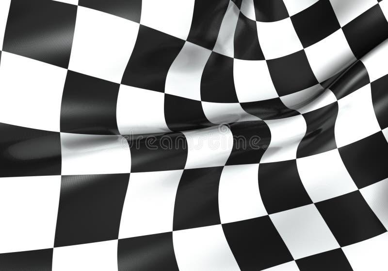 Corsa della bandierina checkered illustrazione vettoriale
