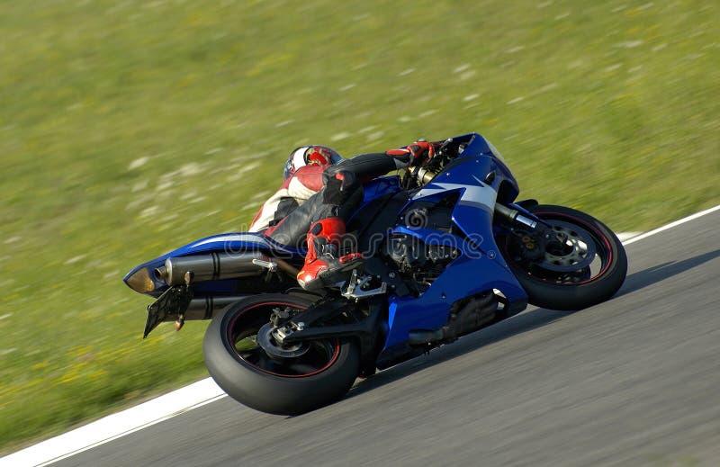 Corsa della motocicletta fotografia stock