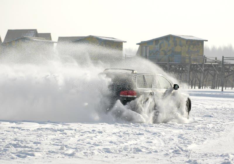 Corsa della neve fotografia stock libera da diritti