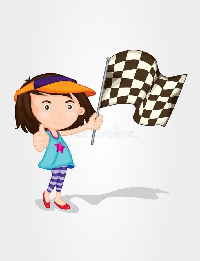 Corsa della ragazza illustrazione di stock