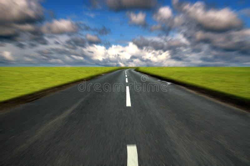 Corsa della strada campestre fotografia stock