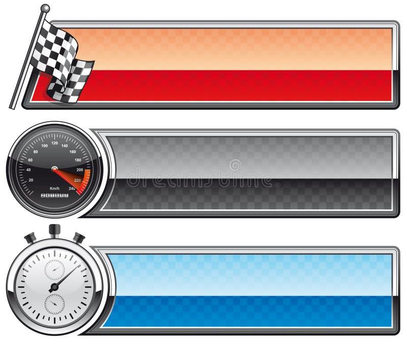 Corsa delle bandiere royalty illustrazione gratis