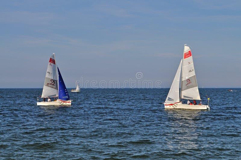 Corsa delle barche a vela fotografia stock libera da diritti