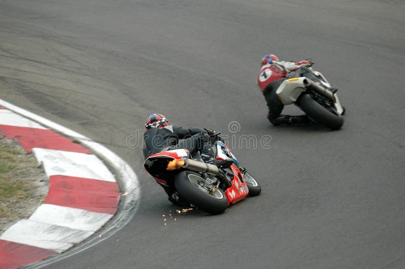 Corsa delle motociclette immagini stock