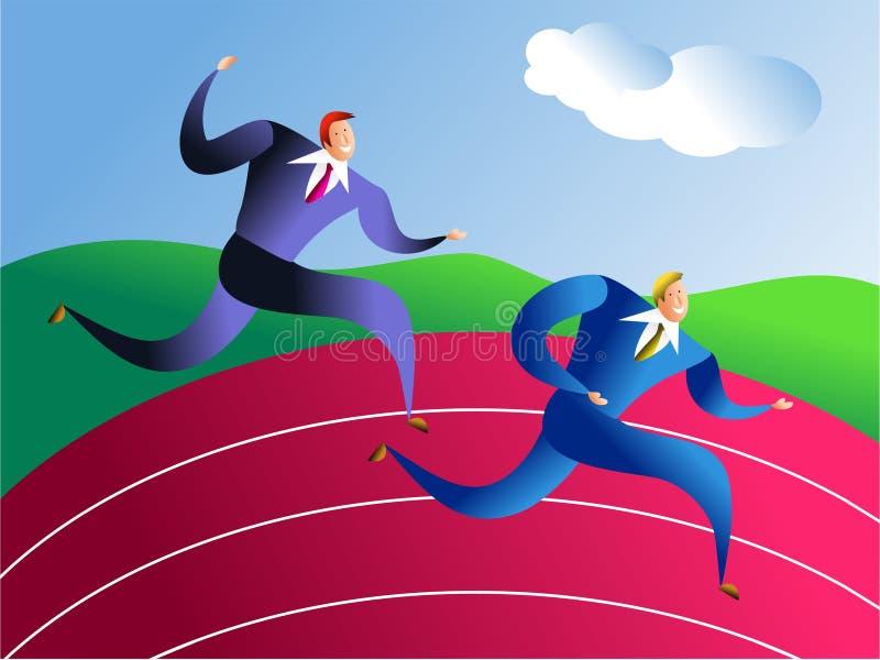Corsa di affari illustrazione di stock
