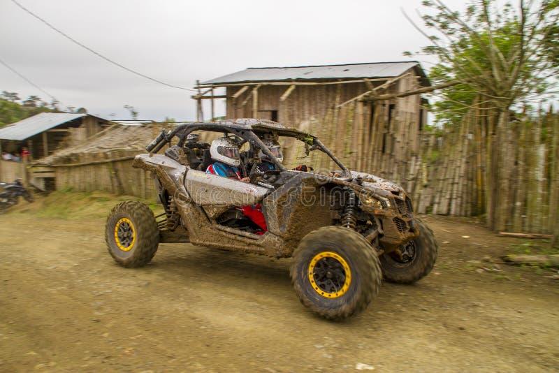 Corsa di automobile di Baja Pedernales fotografia stock libera da diritti