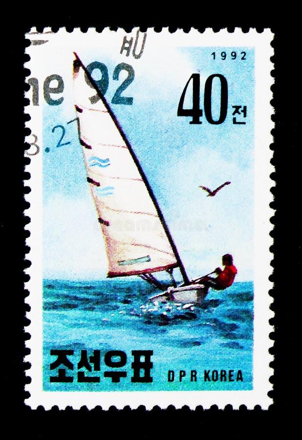 Corsa di barca di Riccione, serie internazionale di mostra del bollo, circ fotografie stock