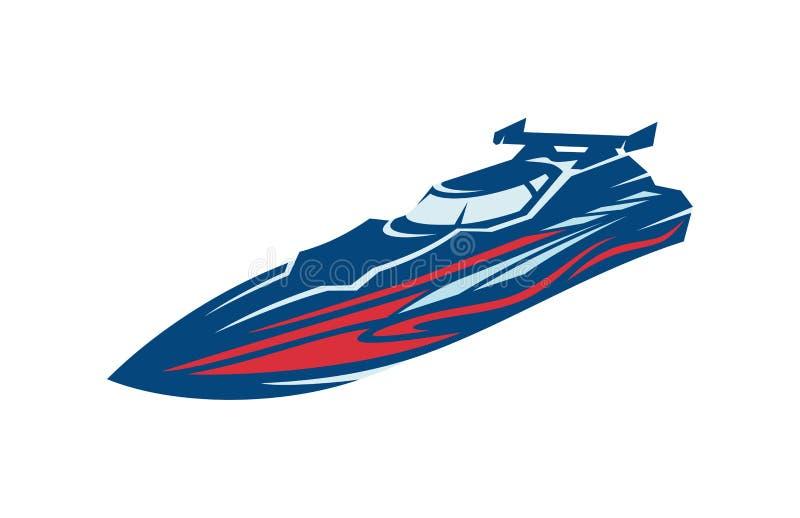 Corsa di barca di velocità illustrazione di stock