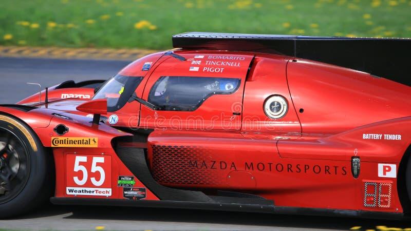 Corsa di Mazda Team Joest Mazda DPi fotografie stock