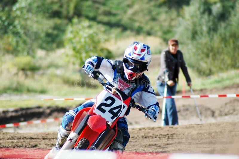 Corsa di MotoX immagine stock