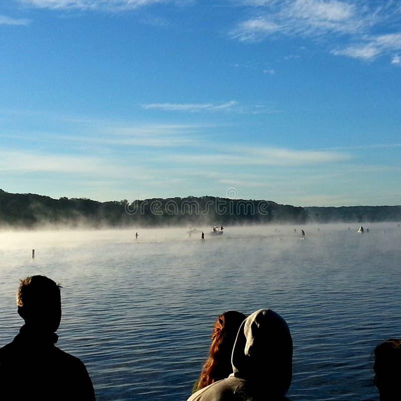 Corsa di nuoto di triathlon immagini stock
