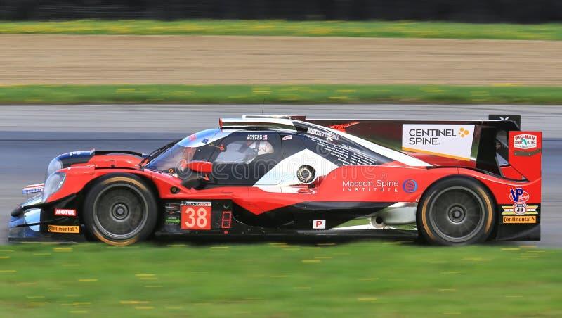Corsa di Oreca LMP2 del Motorsports di tecnologia di prestazione fotografia stock libera da diritti