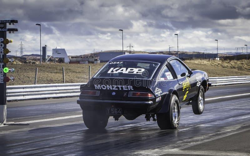 Corsa di resistenza, Chevrolet Monza immagini stock libere da diritti
