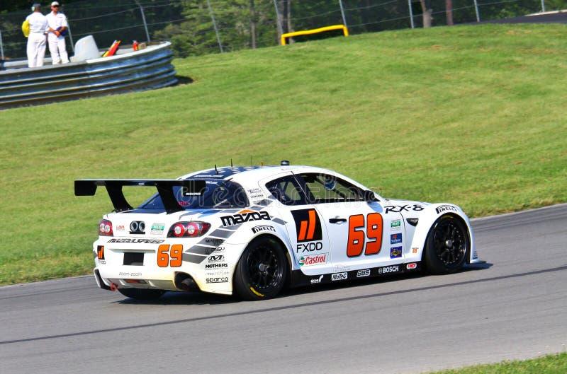 Corsa di SpeedSource Mazda RX-8 immagini stock libere da diritti