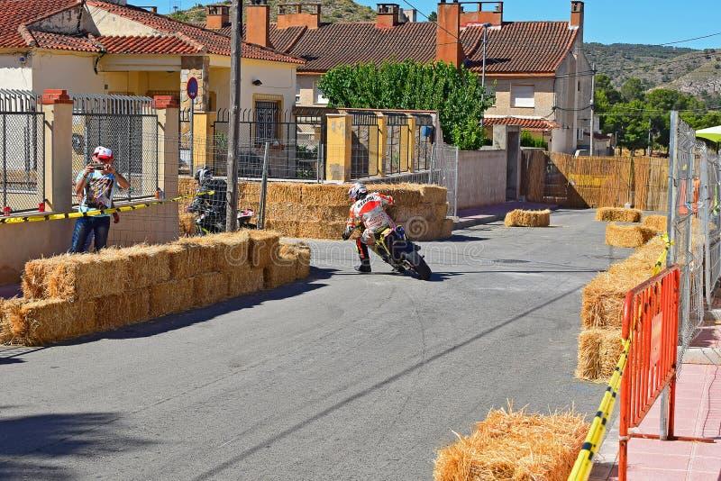 Corsa di strada del motociclo fotografia stock