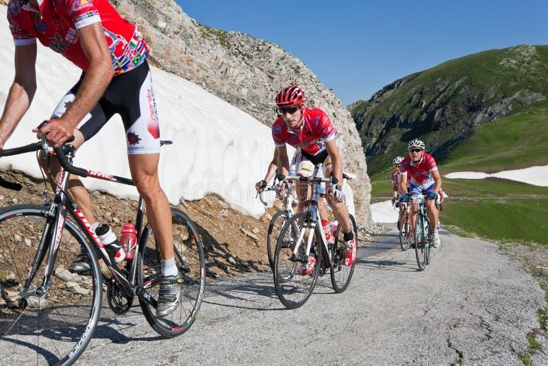 Corsa di strada della bicicletta fotografia stock libera da diritti