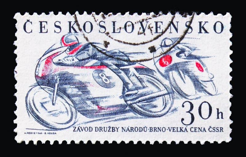 Corsa di strada delle motociclette, serie 1961 di sport, circa 1961 fotografia stock libera da diritti