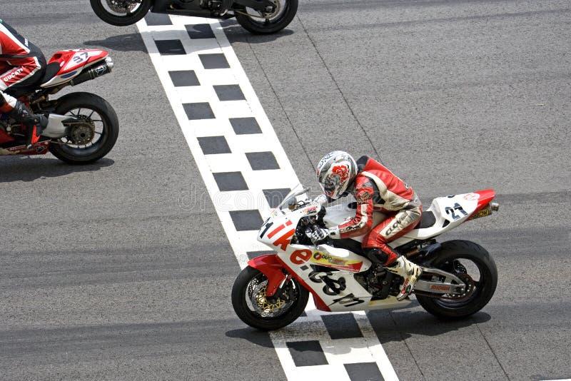 Corsa di Superbike fotografia stock