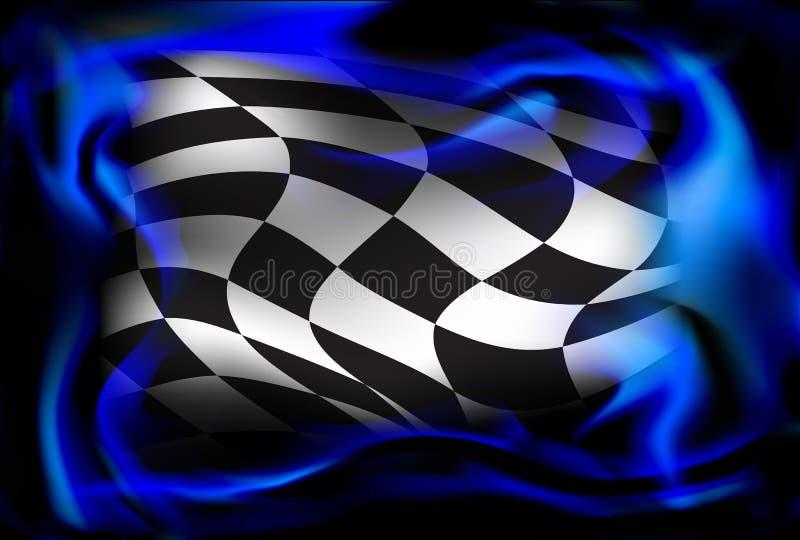 Corsa, fondo a quadretti della bandiera royalty illustrazione gratis