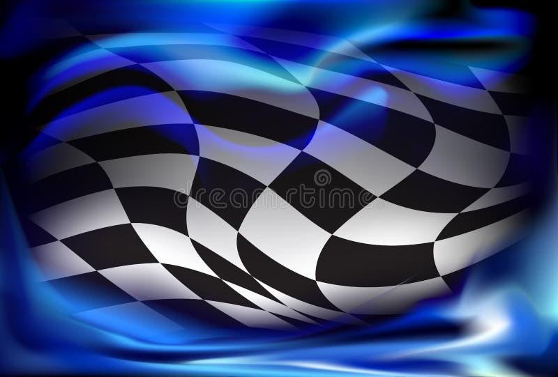Corsa, fondo a quadretti della bandiera illustrazione vettoriale