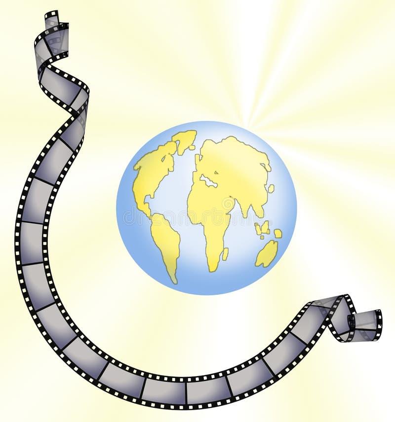 Corsa intorno al mondo illustrazione di stock