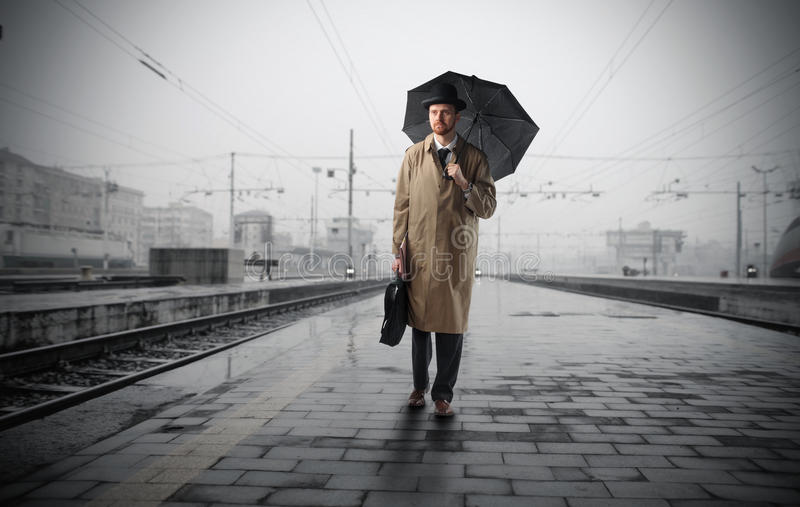 Corsa nella pioggia fotografie stock libere da diritti