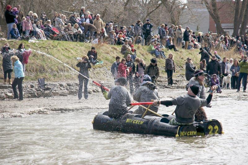 Corsa pazzesca del fiume del mestiere, speranza della porta, 31 marzo /2012 fotografie stock