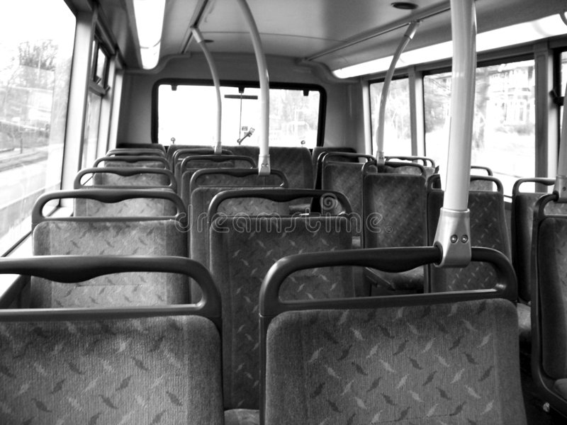 Corsa sul bus 2 fotografia stock