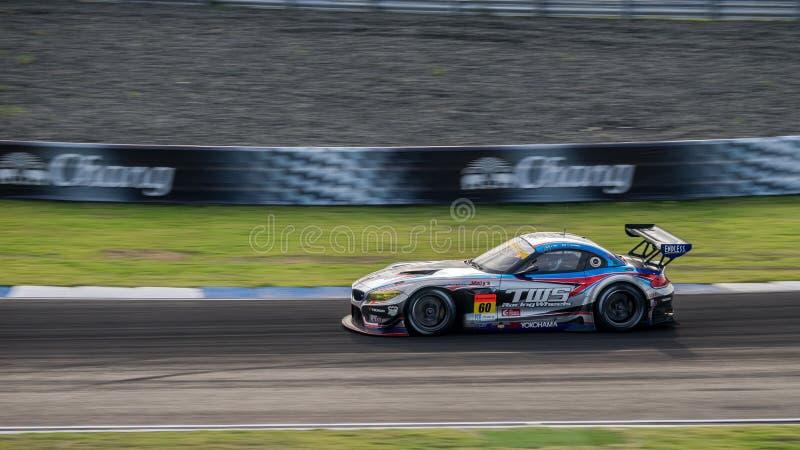 Corsa van TWS LM BMW Z4 van LM-corsa in GT300-Rassen in Burirum, Thail royalty-vrije stock fotografie