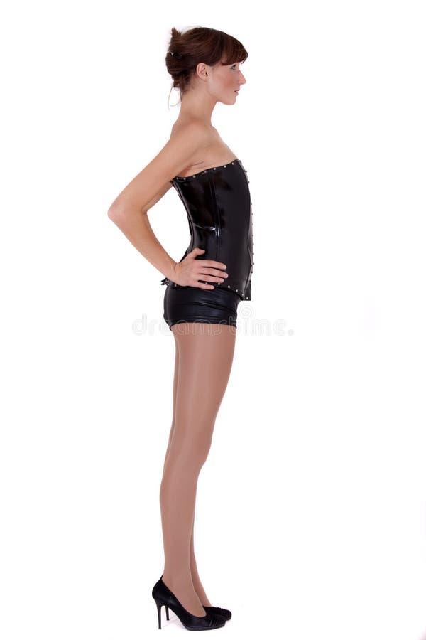 corsage rzemienna skrótów kobieta zdjęcie royalty free