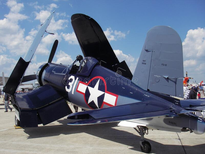 Corsair Fighter Plane at the Airshow royalty free stock photography
