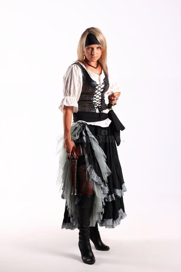 Corsair girl royalty free stock image