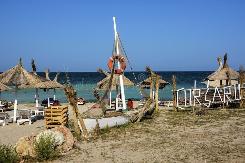 Corsaru plaża na Vama Veche, Rumunia obraz royalty free