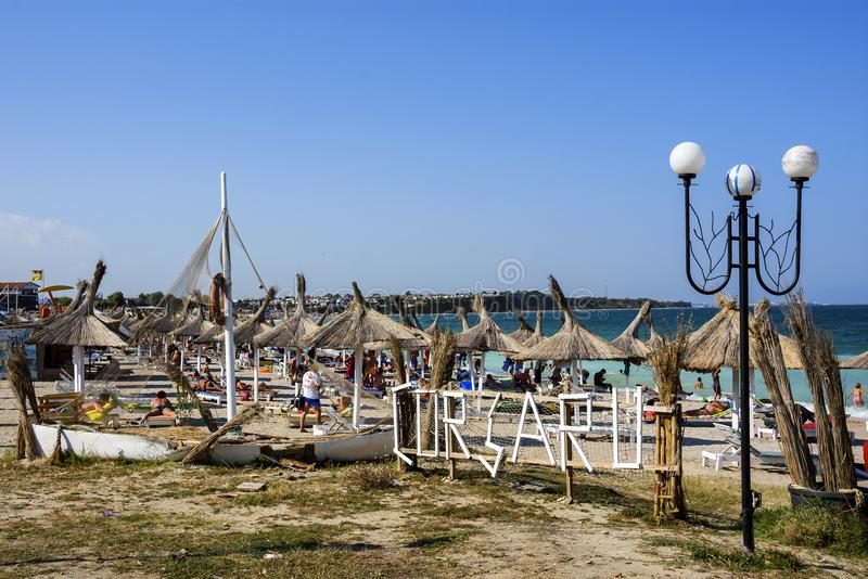 Corsaru plaża na Vama Veche, Rumunia obrazy royalty free