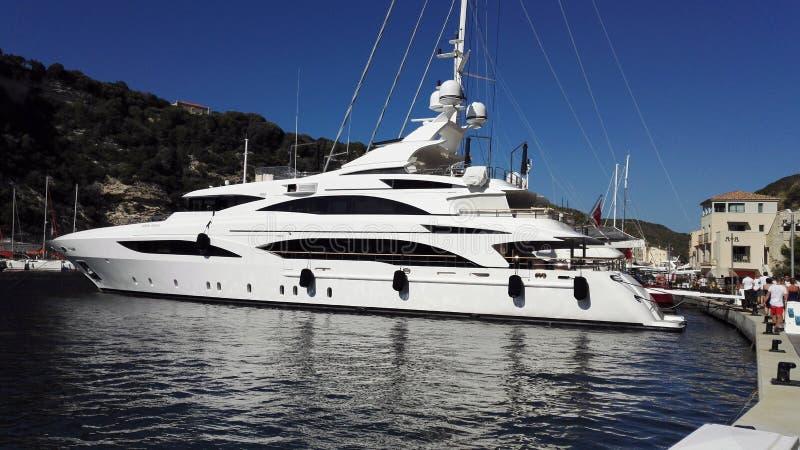 Corse Bonifacio yachtfartyg arkivfoton