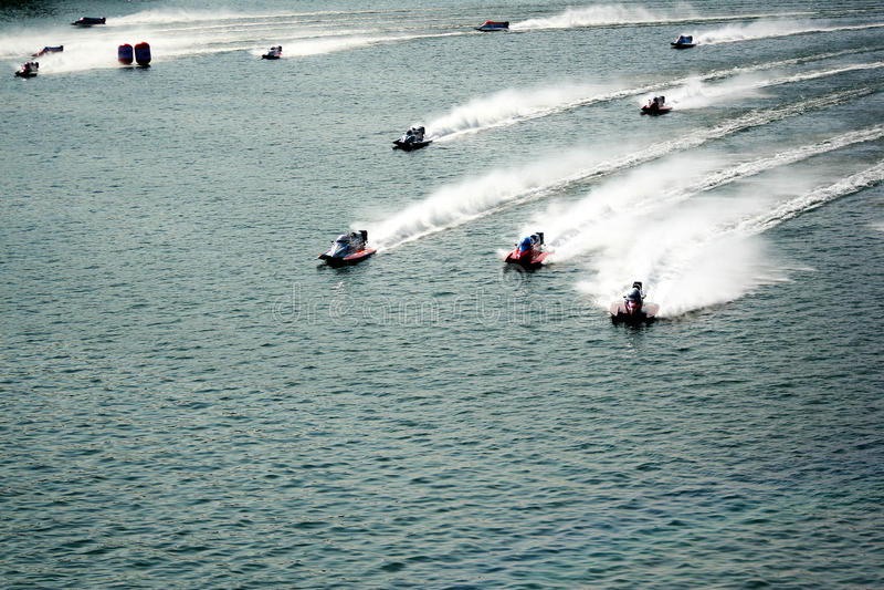 corse delle barche f1 fotografia stock