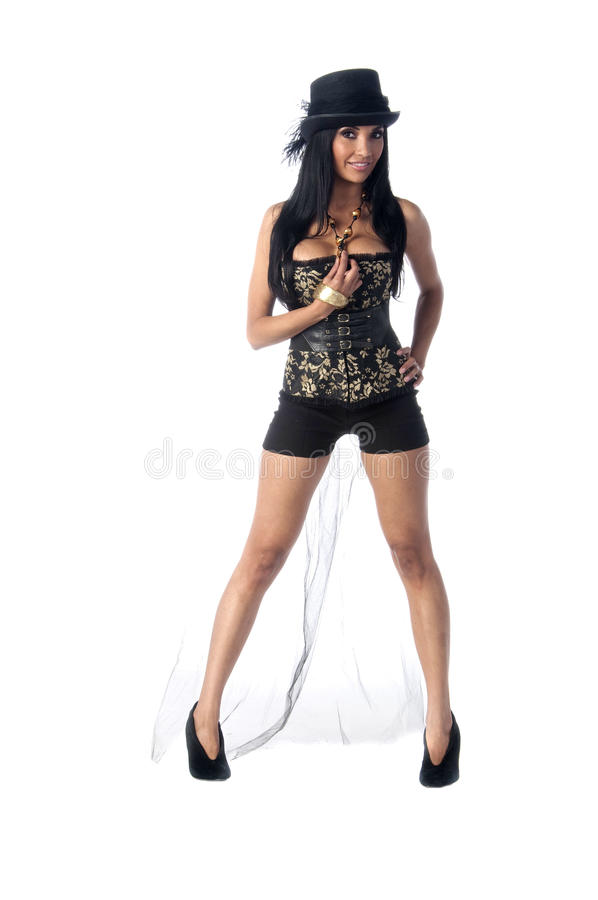 corsetes帽子顶层 免版税库存图片